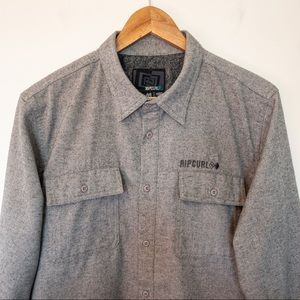 Rip Curl Men Size M Shirt Flannel Spell Out